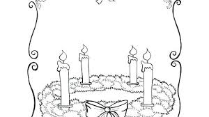 Advent Wreath Coloring Sheet Wreath Coloring Page Advent Wreath
