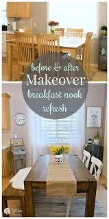 image breakfast nook september decorating. Breakfast Nook Makeover | Kitchen Ideas For Simple And Stylish Decorating On A Budget. Image September O