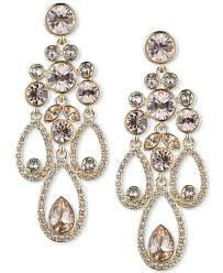 givenchy metallic gold tone crystal and pavé chandelier earrings lyst view fullscreen