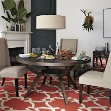 west elm ds with pendant light dining room transitional and