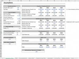 Excel Financial Statement Financial Model For Mobile Payment Startup