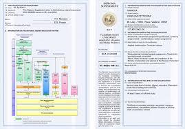 diploma supplement См пример Европриложение лист1 Европриложение лист2