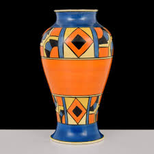 Clarice Cliff Jug Designs Large Clarice Cliff Vase Palm Beach Modern Auctions