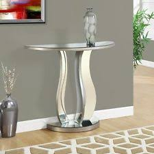 half table for hallway. Mirrored Console Table Half Moon Modern Glam Style Accent Entryway Hallway New For D