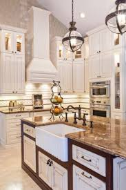 lights in the retro style and a marble tabletops in the kitchen in the italian