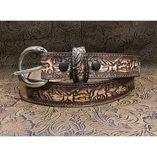 new kids brown personalized leather belt 1 1 4