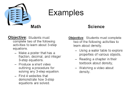 objective students must complete two of the following activities to learn about