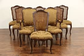french dining chairs. Baker Cherry Country French Dining Set, Table, 2 Leaves, 8 Chairs New Upholstery I