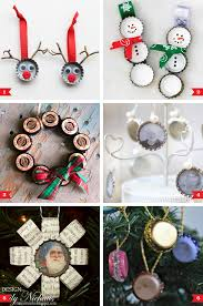 Decorated Bottle Caps DIY bottle cap Christmas ornaments Chickabug 24