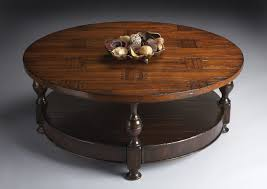 Comely Round Wood Coffee On Furniture For Solid