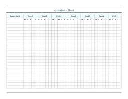 Attendance Spreadsheet Template