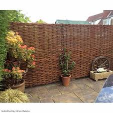 DURABLE Natural Willow HURDLE Garden Screening Panel Wood Fence