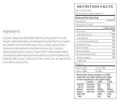 oreos nutrition label