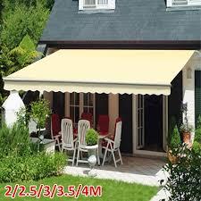 cream manual awning garden sun shade retractable