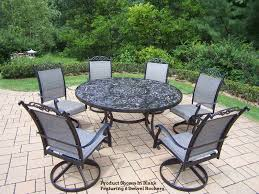 adorable round patio dining sets for 6 cascade 7 pc set awesome furniture high top table and chairs pertaining to