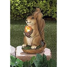 garden animal statues. Exellent Statues DecorDuke 10016219 Solar Garden Animal Statues Squirrel Concrete Sculptures  Resin Outdoor Decor Patio Lawn Yard Ornament Throughout 6