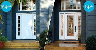 add glass inserts to exterior doors