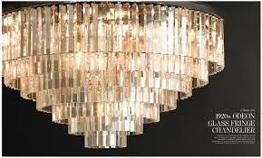 desecration hardware 4 1920s odeon glass fringe chandelier the