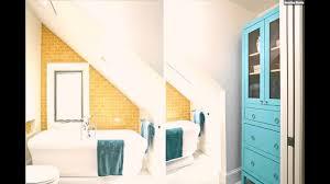 Ideen Badezimmer Mit Dachschräge Hell Orange Fliesen Youtube