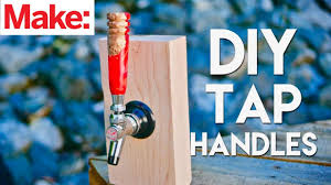 crafted work resin burl tap handles