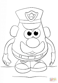 Small Picture Mr Potato Head Police Officer Coloring Page Free Printable
