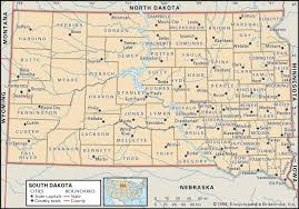 state and county maps of south dakota