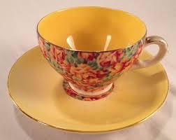 Decorative Cups And Saucers 60 VintageteacupandsaucerROYAL LEIGHTON WARE ENGLAND 47