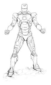 Small Picture Sketch of Iron Man Coloring Page NetArt