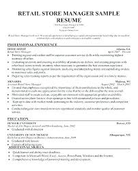 Resume Objective For It Job Magnificent Clothing Store Manager Resume Store Manager Job Description Retail
