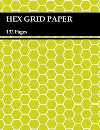 Hex Grid Paper Hexagonal Graph Paper Notebook Perfect Rpg Graph