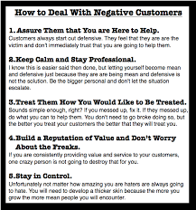 What Does Good Customer Service Mean To You How To Deal With Negative Customers Customerrelations Www