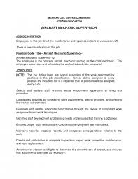 Mechanic Job Description Resumes Template Mechanic Job Description Resume