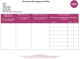 Personal Development Plan Examples Identify Your Goals Mbm