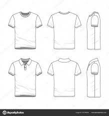 Tee Shirts Templates Templates Of T Shirt And Polo Shirt Stock Vector Aunaauna2012
