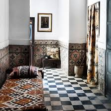 black and white tile floor living room. Plain Room Hallway With Original Black And White Tiles Day Bed Side Table Floor On Black And White Tile Floor Living Room