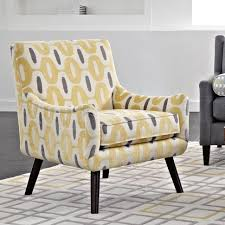... Living Room Chairs Yellow Accent With Solid Wood Tapered Legs Home  Decor Fantastic Contemporary For Pictures ...
