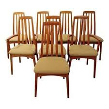 mid century dining chairs danish modern hornslet style teak dining chairs set of 8