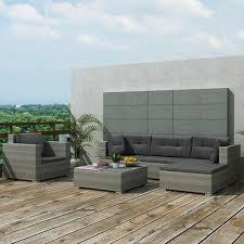 Orren Ellis Rosenbaum Garden <b>6 Piece Rattan Sofa</b> Seating Group ...