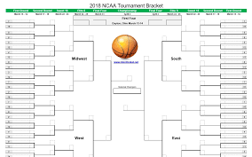 Ncaa Tournament Bracket Scores Printable March Madness Bracket