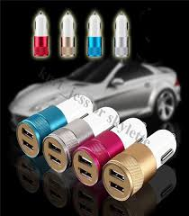 Aluminum Material <b>Dual</b> Universal USB Car Charger Phone ...