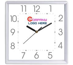 simple square shape wall clock