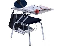 hard plastic tablet arm chair desk hard plastic top