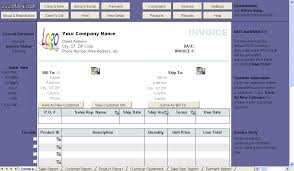 General Sales Invoice Template Uniform Invoice Software