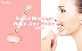Facial Roller Massage, Charminer Royal <b>Jade Roller</b>, <b>rose</b> quartz ...