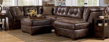 Brown Leather Oversized Couches With Coffee Table And