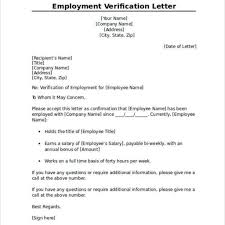 Proper Sample Employment Verification Letter Letter Format Writing