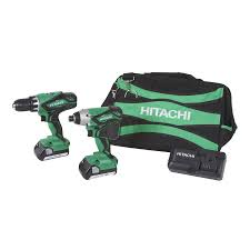 hitachi tools. hitachi 2-tool 18-volt lithium ion cordless combo kit tools s