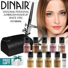 Dinair Foundation Color Chart Airbrush Makeup Kit Medium Foundation 10pc Makeup More By