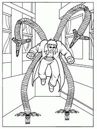 Doc Ock Coloring Pages Color Bros