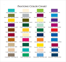 **this chart is a reference guide only. Pms Color Chart Effy Moom